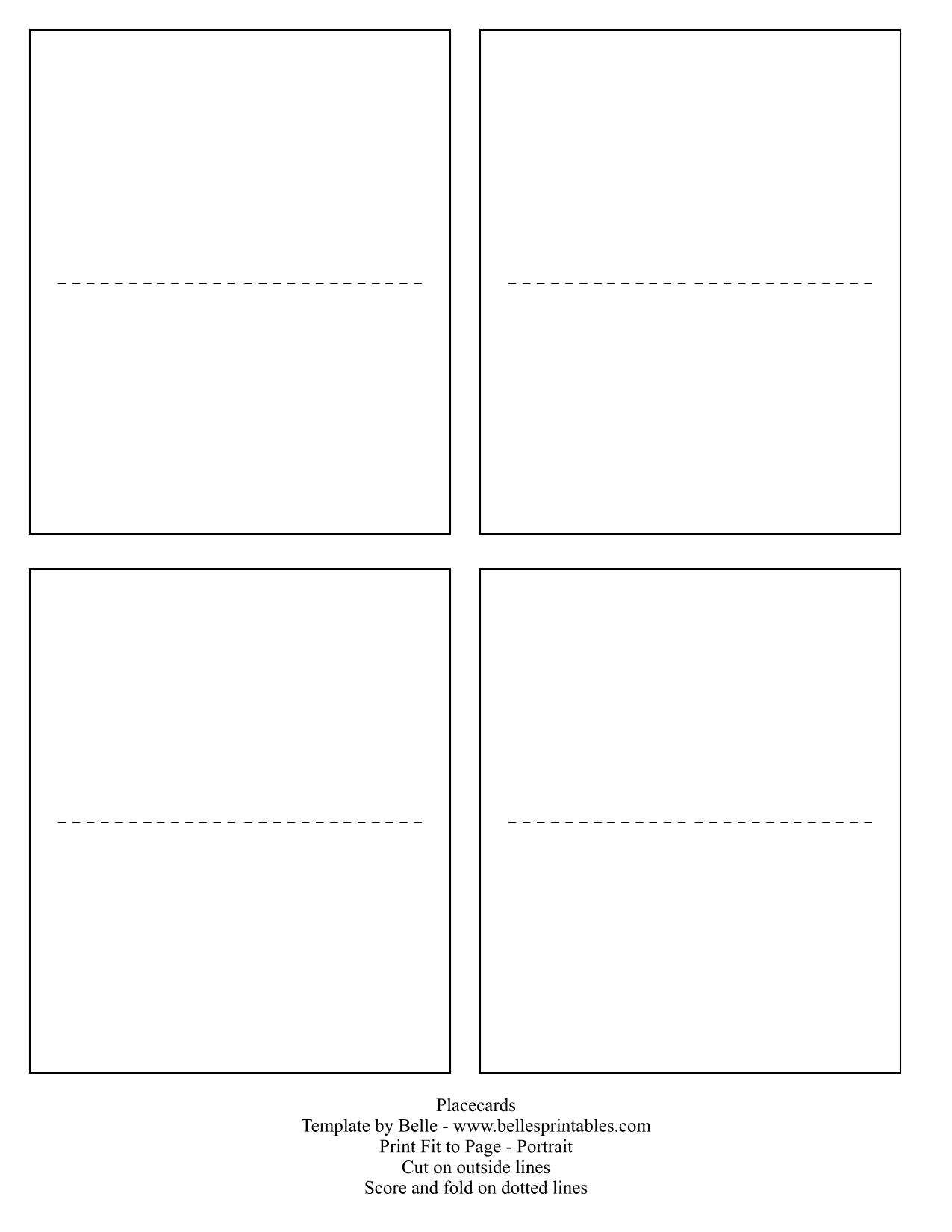 place card templates free for word also place card template word ...