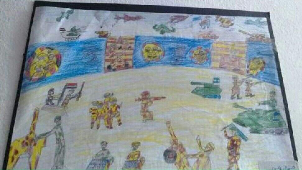 رسم عن 6 اكتوبر رسومات روعه عن حرب 6 اكتوبر ازاي