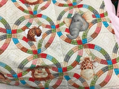 Carol P animal ring print quilt.