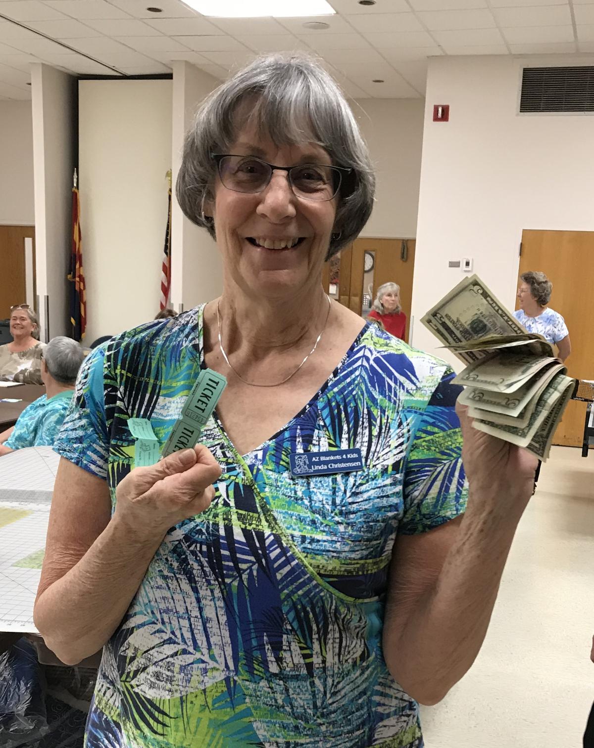 Linda Christensen 50 50 winner
