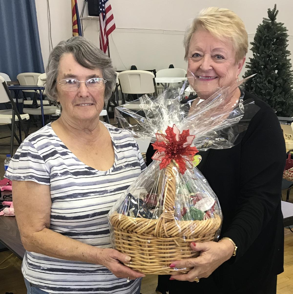 Janet Grabowski wins raffle basket