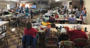 Full house of busy volunteers.