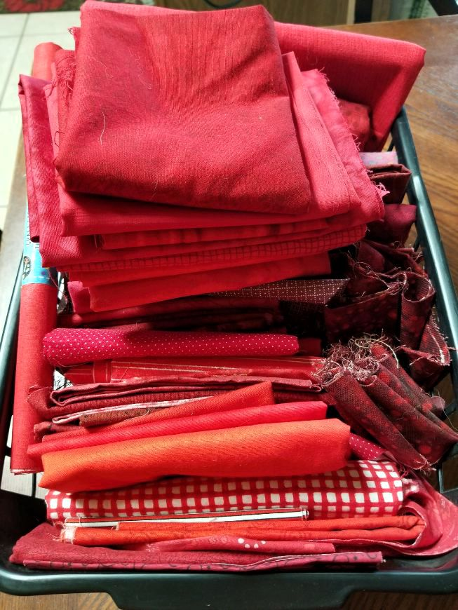 Red Fabric Basket