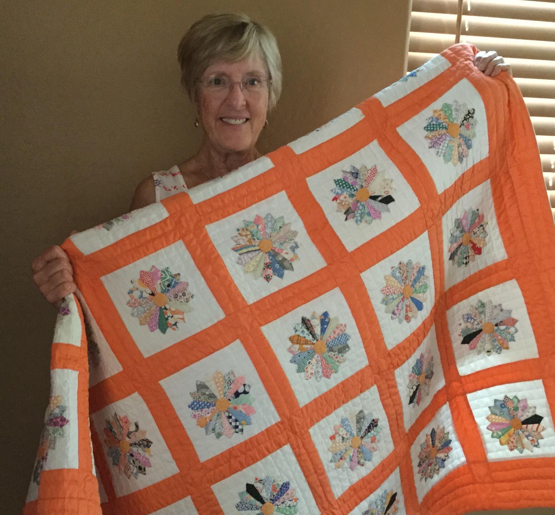 2019 raffle quilt winner Sue Burdette from LaHacienda
