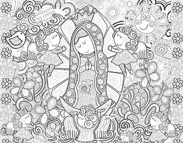 our lady of guadalupe coloring page # 64