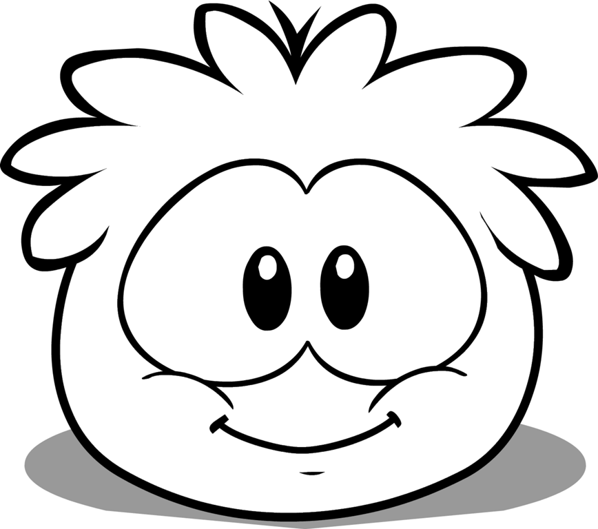 pics photos dibujos para colorear del puffle cafe club penguin