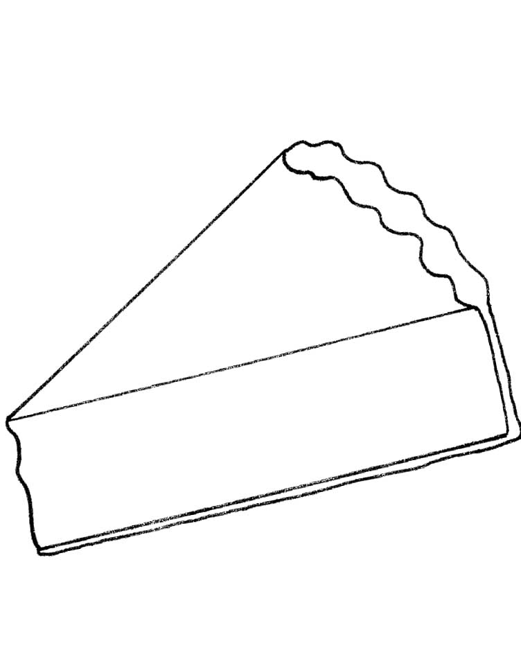 slice of pie with chocolate star coloring pages food coloring