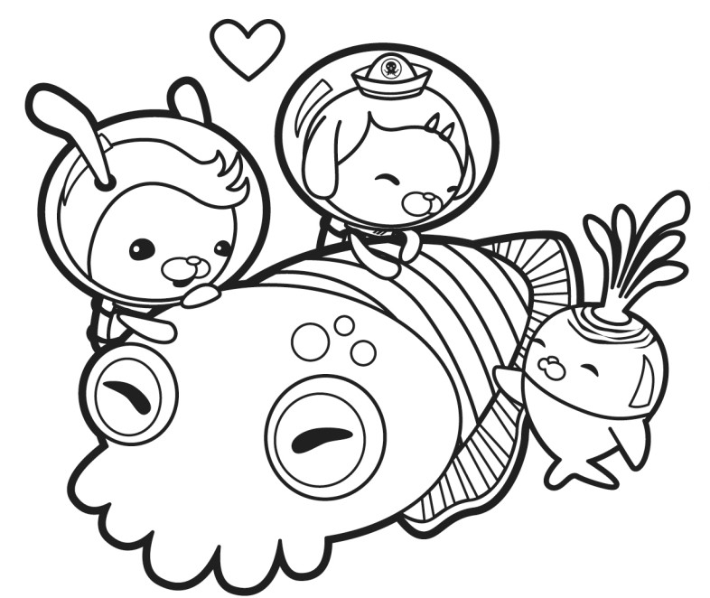 octonauts coloring pages coloriage az coloriage
