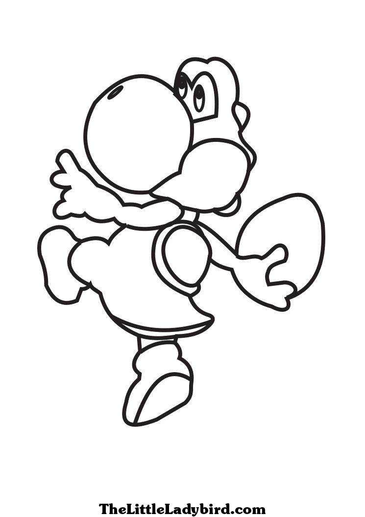 new super mario bros u baby yoshi coloring pages coloring pages