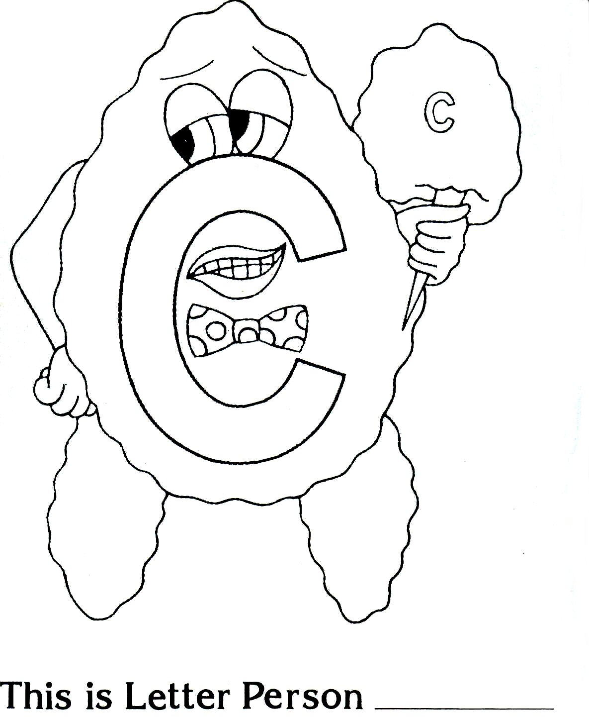 Cotton Candy Coloring Page