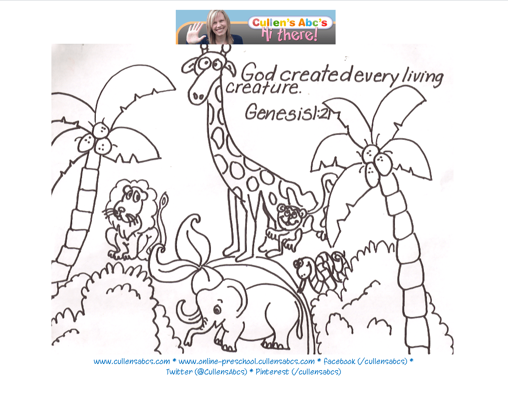 Bible Story Coloring Pages Creation