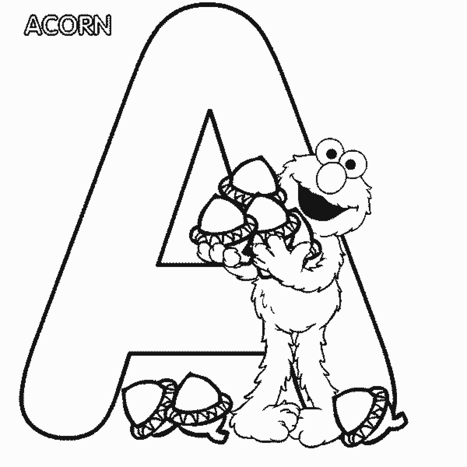 Elmo Alphabet Coloring Pages