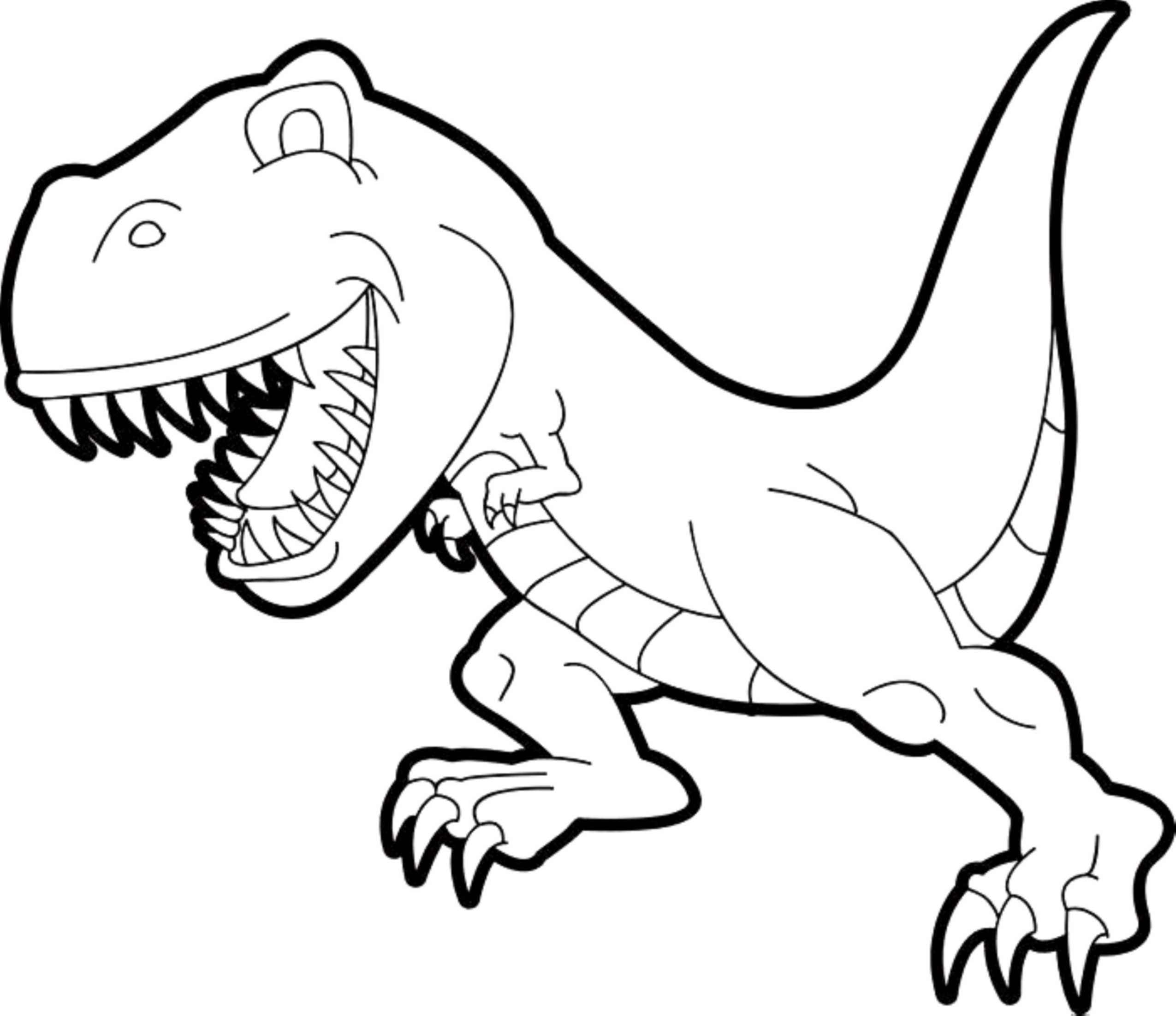 Cute T Rex Coloring Page
