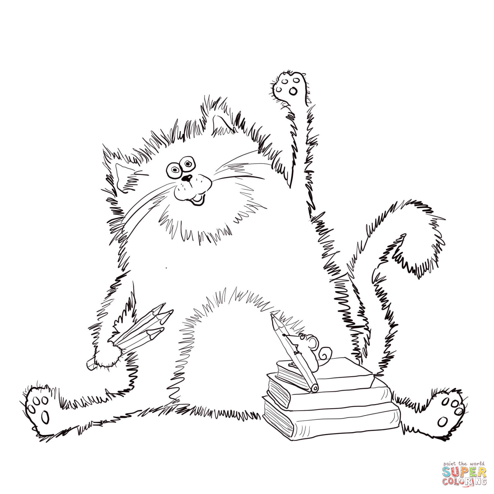 Free Pete The Cat Coloring Page