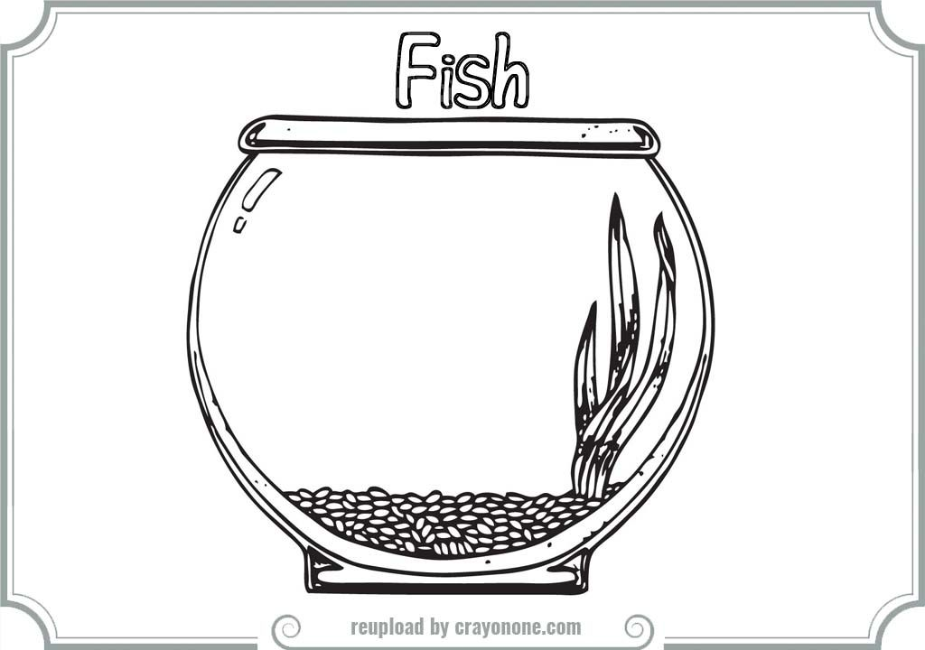 empty fish bowl coloring pages printable coloring pages