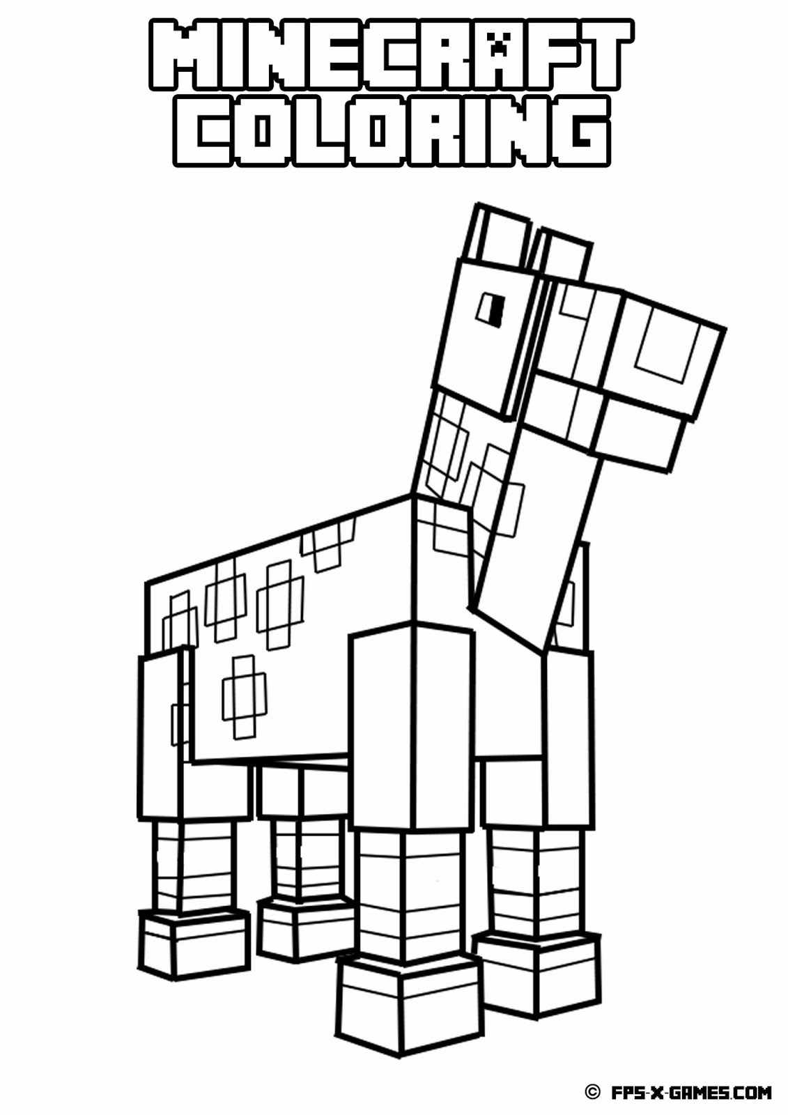 free printable minecraft coloring pages only coloring pages