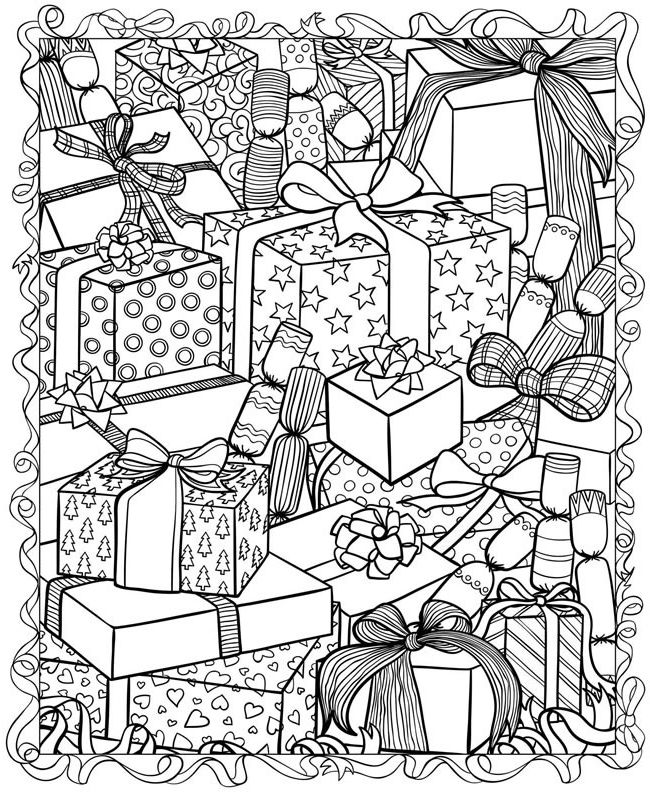 Christmas Coloring Pages For Adults Christmas Coloring Pages For