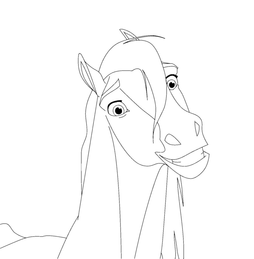Spirit stallion of the cimarron coloring pages spirit stallion of