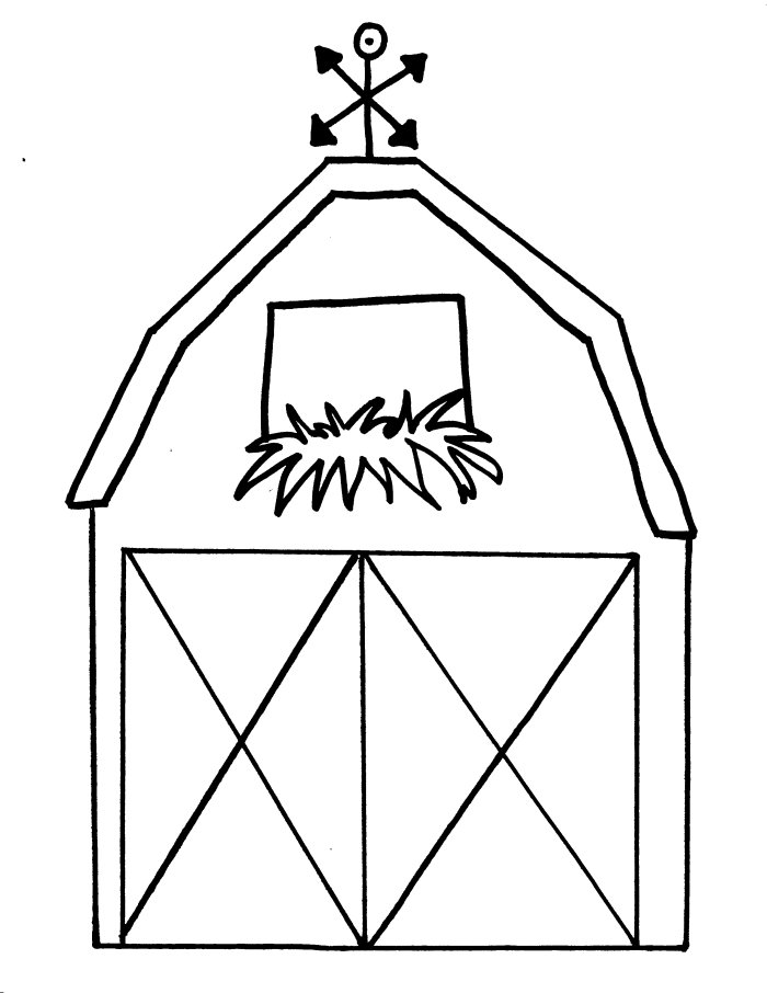 barn coloring pages for kids 2 free printable coloring pages