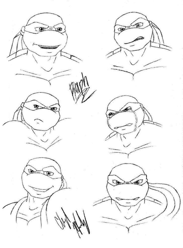 tmnt sheets az coloring pages