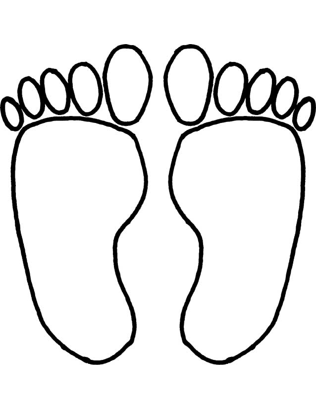 feet coloring pages az coloring pages