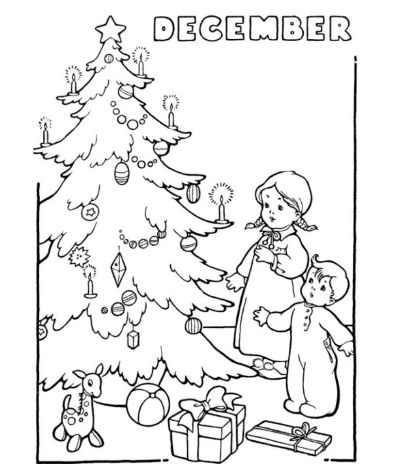 december coloring page az coloring pages