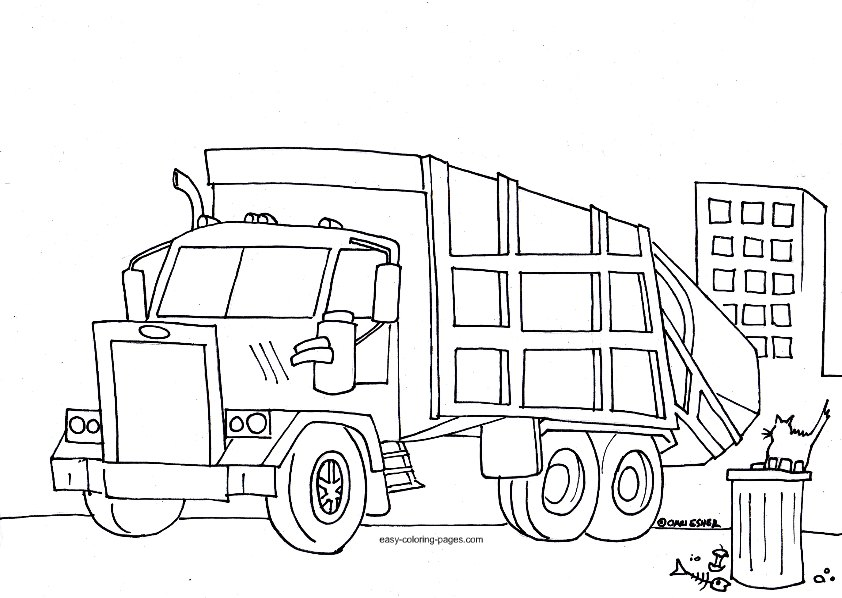 garbage truck coloring pages truck colouring pages