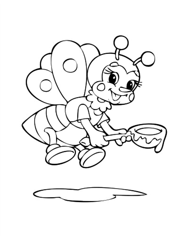 bumble bee color pages az coloring pages