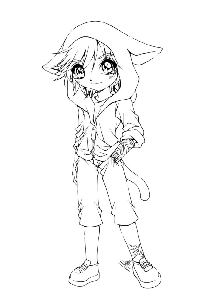 these cute anime coloring pages for free cute anime coloring pages