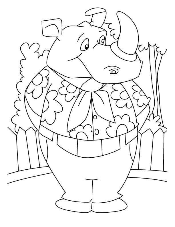 rhino coloring pages az coloring pages