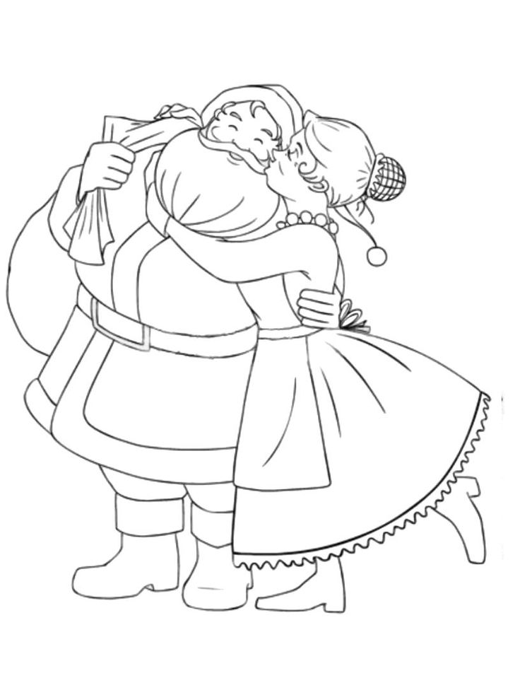 mrs claus coloring page az coloring pages