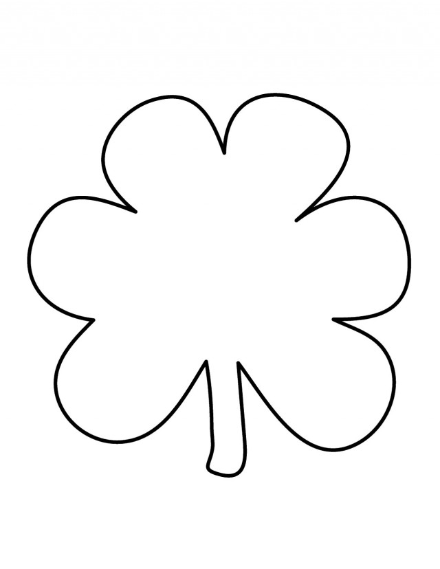 shamrock coloring pages for kids az coloring pages