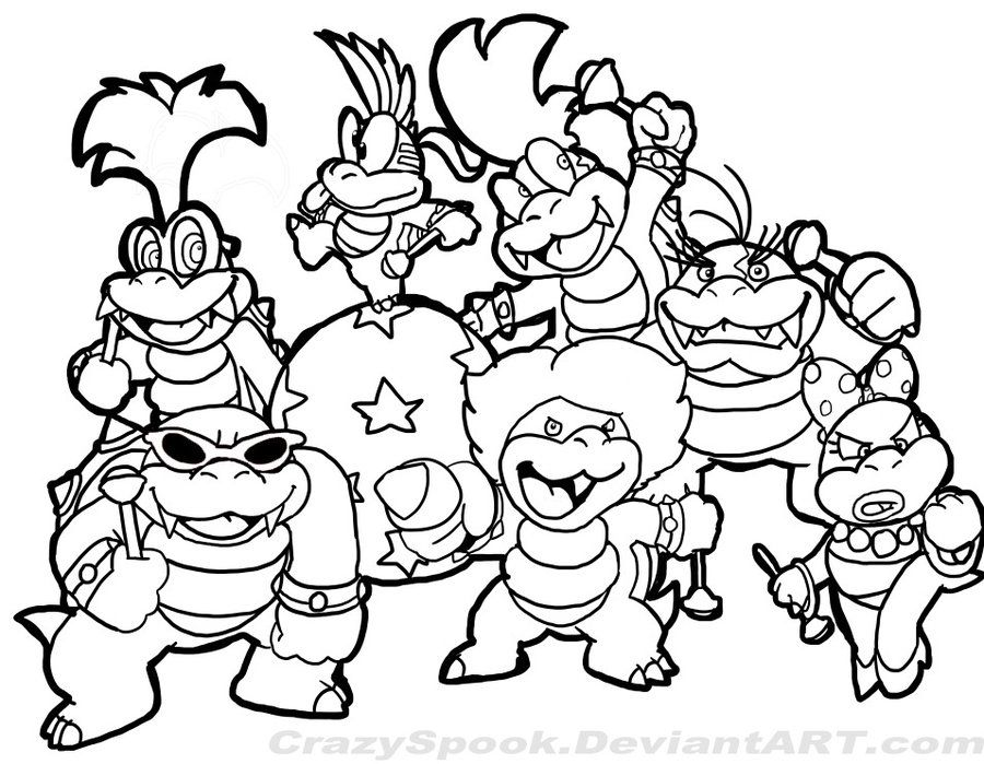 super mario characters coloring pages az coloring pages