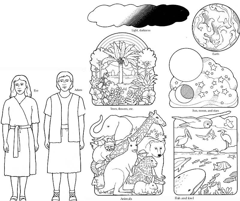 Story Of Creation For Children Coloring Home