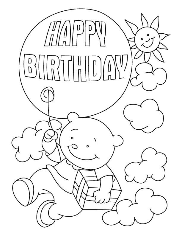 birthday card coloring pages az coloring pages