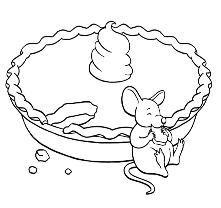 mouse eating a