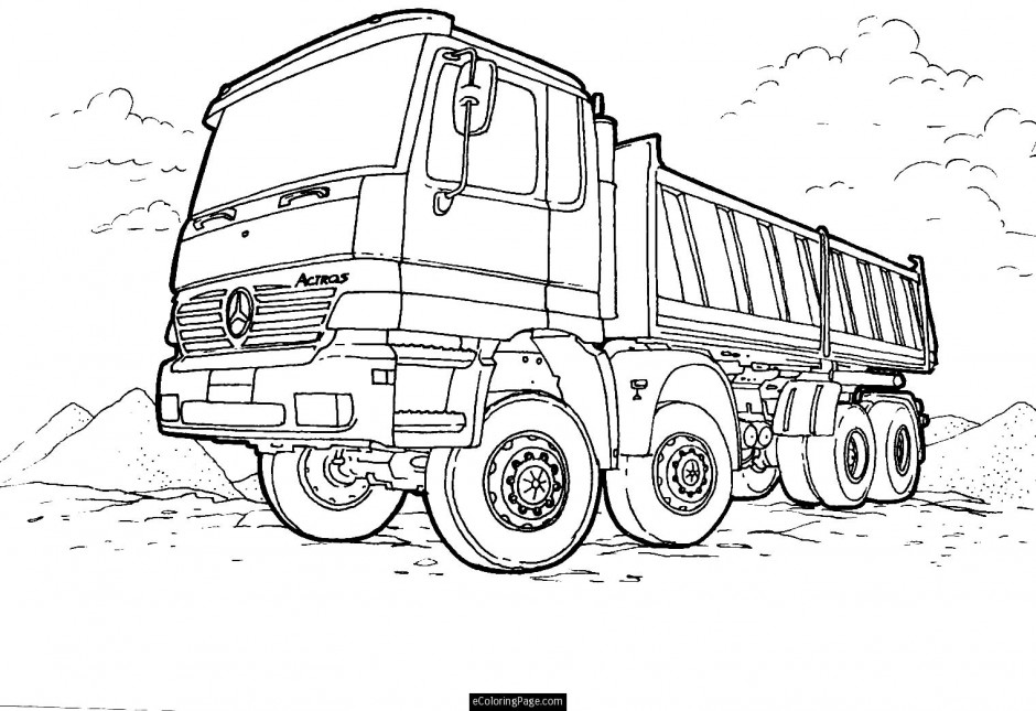 semi truck coloring page super 104732 super why printable coloring