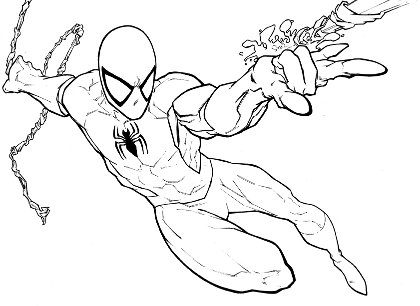spiderman printable coloring pages free printable coloring pages