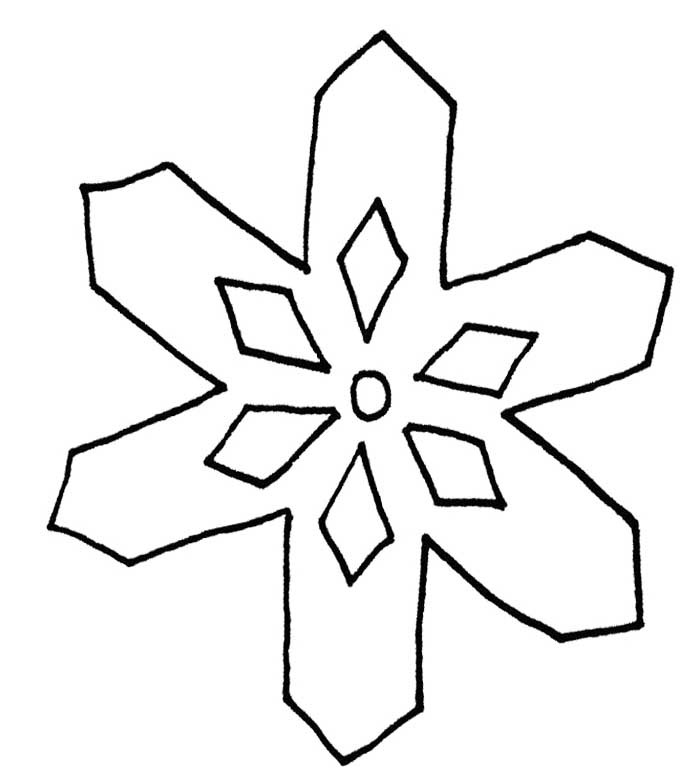 snowflake with a simple pattern page snowflake