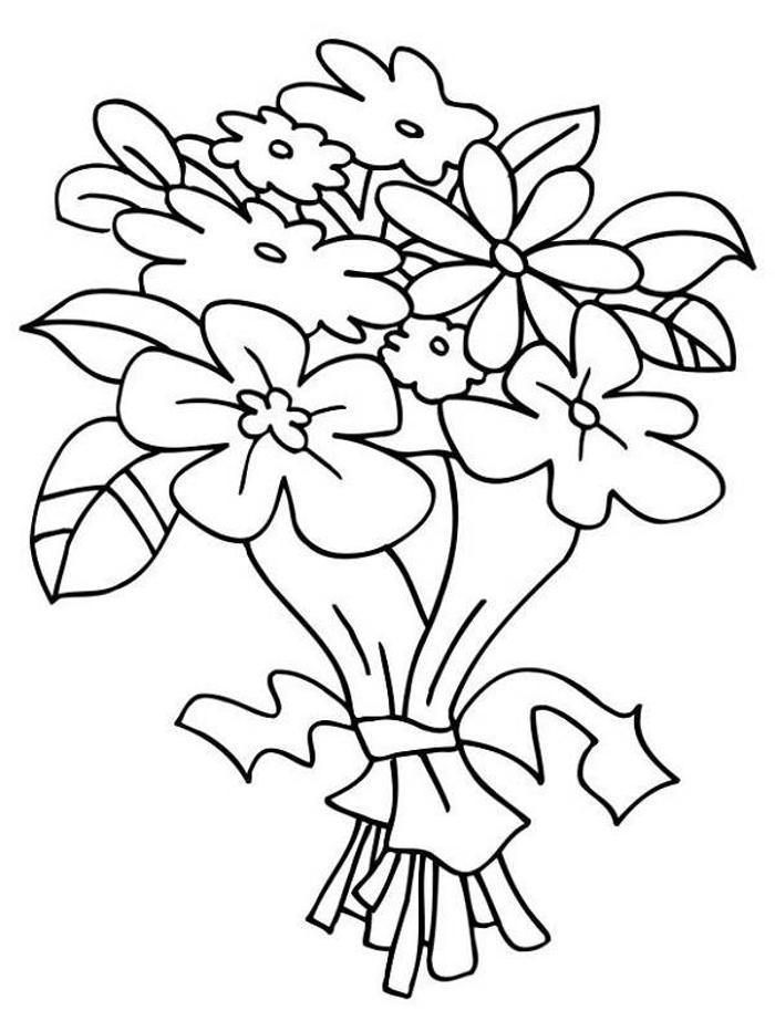 bouquet of flowers coloring pages free reference images