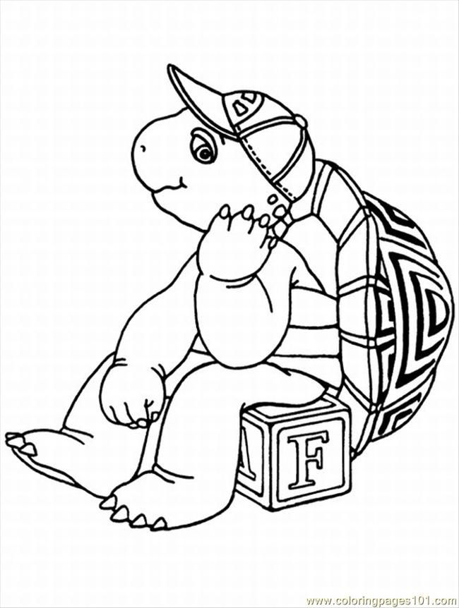picture of cartoon turtle az coloring pages