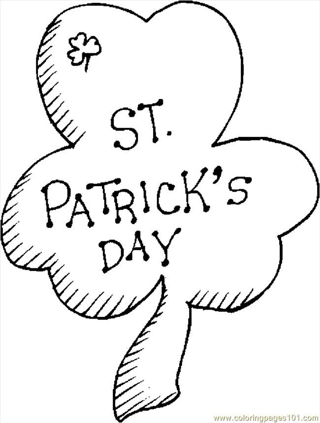 st patrick day shamrock coloring pages az coloring pages