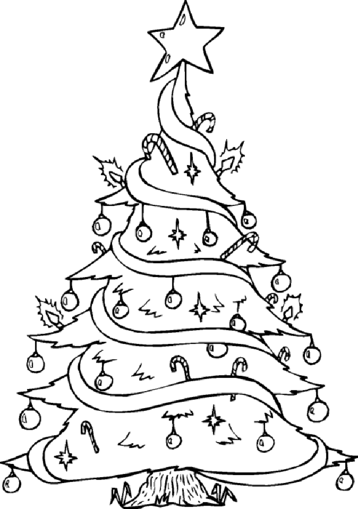 coloring pages of christmas trees coloring pages