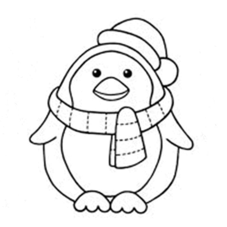 baby penguin coloring pages az coloring pages