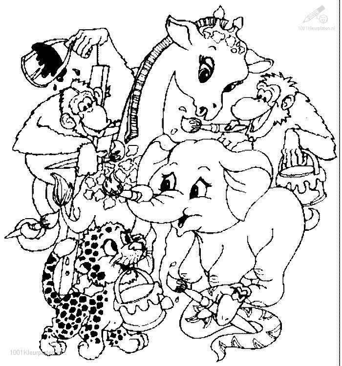 zoo animals coloring pages printable coloring book sheet online