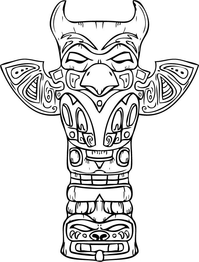 Native American Symbols Coloring Pages - GetColoringPages.com | 898x684