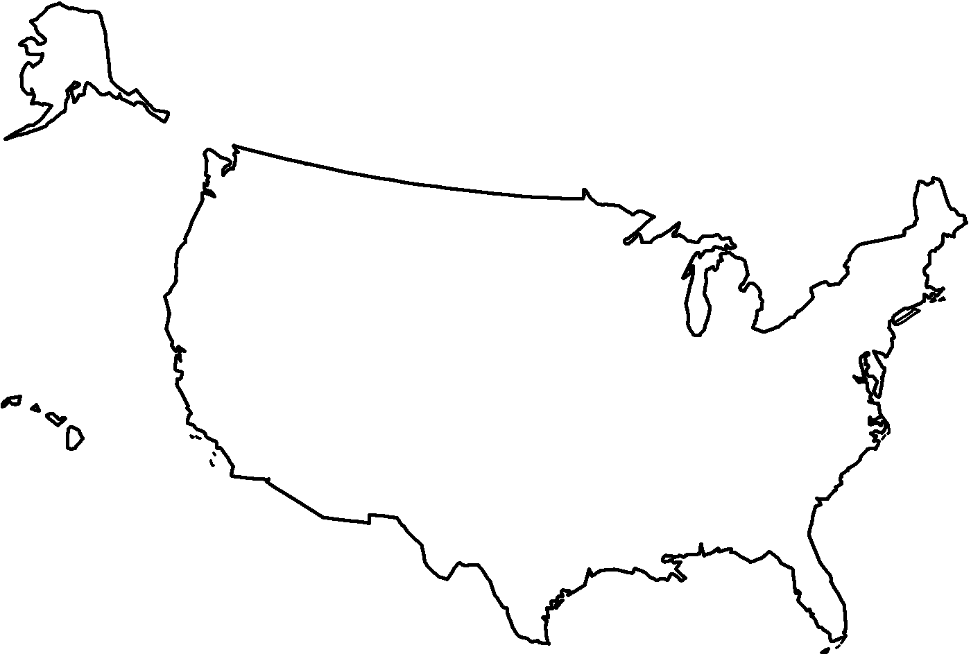 coloring page united states map az coloring pages