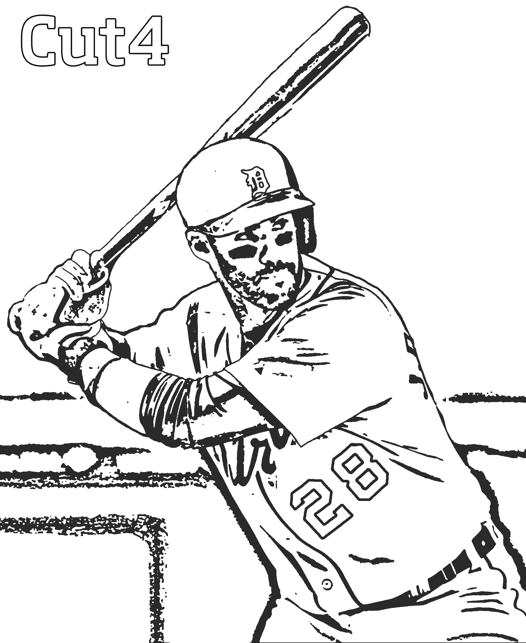 Detroit Tigers Coloring Pages