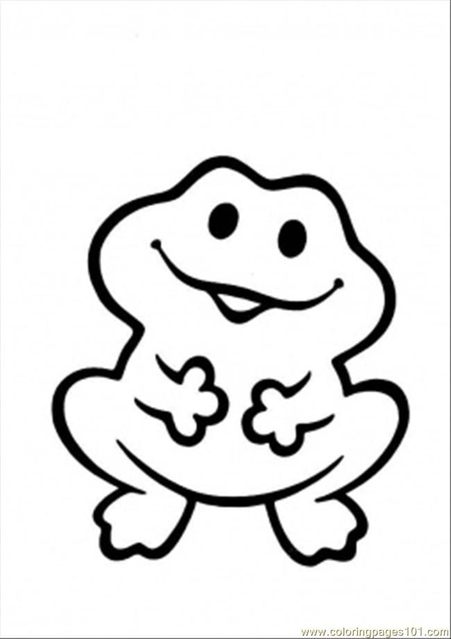 printable coloring page funny frog amphibians az coloring pages