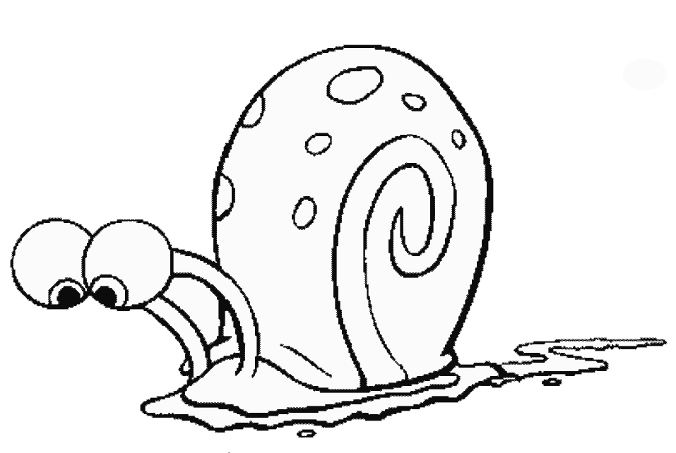 gary the snail coloring pages cooloring com